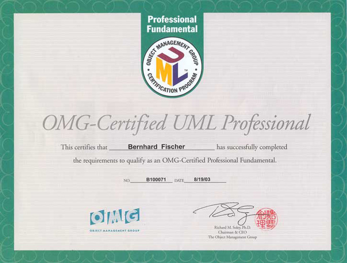 OMG-Certified UML Professional  Fundamental (2003)